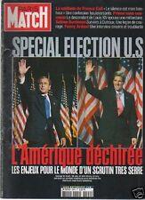 paris match n°2894 special election US france gall bush