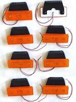 8 piezas 24v LED Ámbar Naranja Luz de marcador LATERAL CAMIÓN REMOLQUE BUS
