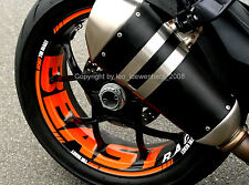 KTM 1290 SuperDuke R SD SDR GT Wheel Sticker Rim Stripes Decals Tape Kit 2014-18