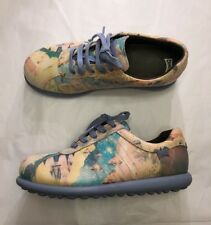 Camper Twins chaussures 38 UK 5 Pelotas cuir pastel Fantasy Print Lace Up Flats