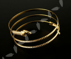 Gold Coiled Spiral Upper Arm Cuff Armlet Armband Bangle Bracelet Accessoris