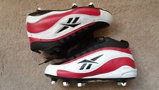 New Ankles Support Reebok 88 Football Shoes w/Cleats Men's Black/White Size 8 Us