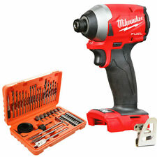 Milwaukee M18FID2 18v Fuel Impact Driver + 56 Piece Drill & Screwdriver Bit Set