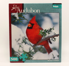 "Buffalo Games Audubon ""Winter Cardinal"" Jigsaw Puzzle 500 Pieces ~ COMPLETE"