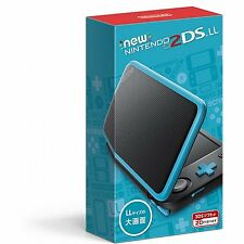 New Nintendo 2DS LL Black x Turquoise  JAPANESE VERSION IMPORT  NO 3Ds