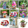 Large Colourful Novelty Fairy House Indoor Outdoor Garden Ornament Decoration