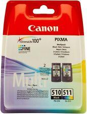 Original Canon PG-510/CL-511 Black & Tri-Colours Ink Cartridges Multipack