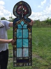 Gothic Turquoise Stained Glass Window Beautiful Colors
