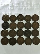 Lot of 20 Indian Head Pennies 1888 - 1907