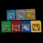 1/7 Pcs New Game Cards For Nintendo Pokemon GBC Game Boy Color Version Fashion