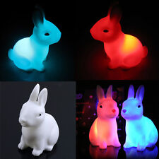hot Color Changing LED Lamp Night Light Rabbit  Home Party Decor Shape White