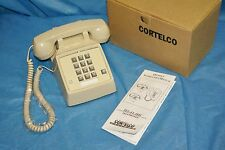 NOS CORTELCO PUSH BUTTON TELEPHONE TEL-FLASH PHONE BEIGE ASH 250044-MBA-27FC