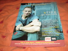 STING ALL THIS TIME LIVE!!!!!!!!!!RARE FRENCH PRESS/KIT
