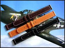 18mm Gen Pigskin XL 1940s WWII Vintage style watch band strap IW SUISSE 16-20 XL