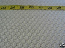 """477  FABRIC Knit White Textured Novelty Knit 60"""" W UNIQUE"""