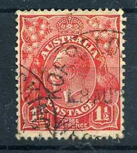 AUSTRALIE - 1926, timbre n° 52, George V, oblitéré