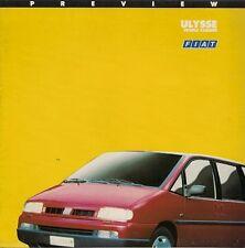 Fiat Ulysse 1994-95 UK Market Preview Foldout Sales Brochure 2.0 Turbo TD S EL