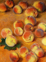 Art Oil painting Claude Monet - Peaches impressionism still life fruits canvas