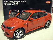 BMW X6 M X6M 4x4 rouge red au 1/18 KYOSHO 08762R voiture miniature de collection