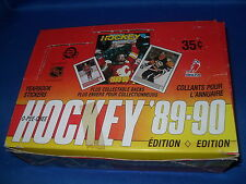 1989-90 O PEE CHEE HOCKEY - WAX BOX (48) STICKER CARD PACKS * WAYNE GRETZKY *