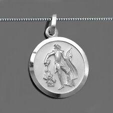 Heiliger Florian Anhänger mit Namen Gravur Feuerwehr mann mit Kette Silber 925