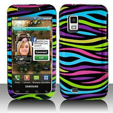 For Samsung Fascinate i500 Protector Hard Case Snap Phone Cover Colorful Zebra