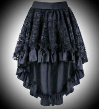 New Black Flock Gothic Burlesque Tutu Asymmetric Corset Skirt size 4XL 18 20