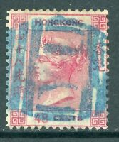 China 1863 Hong Kong 48¢ Rose Carmine QV Wmk CCC Sc #21 Yokohoma CDS W932 ⭐⭐⭐⭐⭐⭐