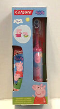 Peppa Pig Colgate Toothpaste and Pink Battery Operated Toothbrush NIB