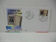 BERNARDO RAMAZZINI   ITALIA 2003  FDC FILAGRANO  ANNULLO BARI