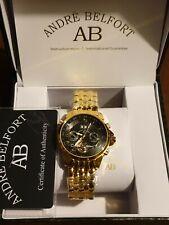 Nuevo Reloj Automático Negro y Dorado. Andre Belfort Auténtico Original.