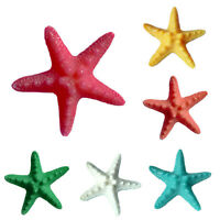 5Pcs Lovely Resin Starfish Ornament Beach Ocean Sea Star Home Wall Party Decor