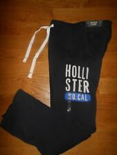 NWT HOLLISTER MENS PANTS SWEATPANTS DRAWSTRING WAIST NAVY BLUE SZ XS
