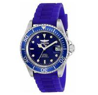 Invicta Men's Automatic Watch - Pro Diver Blue Dial Blue Silicone Strap Dive | 2