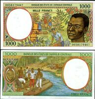 CHAD CENTRAL AFRICAN STATE CAS 1000 FRANCS 2000 P 602 Pg UNC