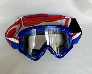 Oakley Ski or Snowboard Goggles, Youth, Red White Blue W Clear Lens - Ships Fast