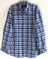 Polo Ralph Lauren Big & Tall Mens 1XB Navy Blue Plaid Button-Front Shirt NWT 1XB