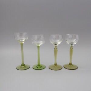 Jugendstil Likörglas Glas 4 Stück wohl Wien um 1900