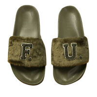 PUMA Fenty Rihanna FU Leadcat Olive Womens Fur Slides Ladies Fashion Sandals