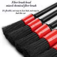 5Pcs/SET Car Detailing Brush Cleaning Natural Boar Multifunction Brushes