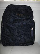 EUC JanSport High Stakes Navy Splendid Vine lightweight Backpack school bag