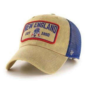 '47 New England Patriots NFL Legacy Khaki Gaudet Clean Up Adjustable Cap Hat