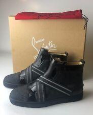 c9800d93cbc Christian Louboutin Sneak In Flat Prisma Calf Black MENS Sneakers Eu 43 US  10