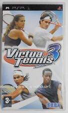 jeu VIRTUA TENNIS 3 sur sony PSP game spiel sport federer nadal monfils sega