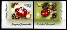 Weihnachten. Weihnachtsgeschenke, Kugeln. 2W. Eckrand. Lettland 2015