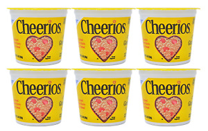 General Mills Cheerios, Breakfast Cereal in a Cup, Single Serve, 1.3oz (6 Count)