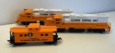 HO Illinois Central Gulf two engine set Life-Like GP Type Diesel Locomotives