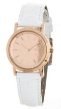 DKNY Ladies Lexington Rose Gold White Leather Strap Watch NY8859