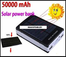 CARGADOR SOLAR, POWER BANK, 50000mhA, Iphone, Ipad, Ipod, htc, psp, samsung, gps