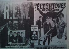 R.E.M. Murmur / Fleshtones 1985 UK Press ADVERT 12x8 inches